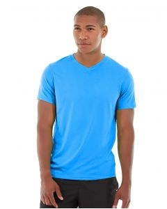 Atomic Endurance Running Tee (V-neck)-M-Blue